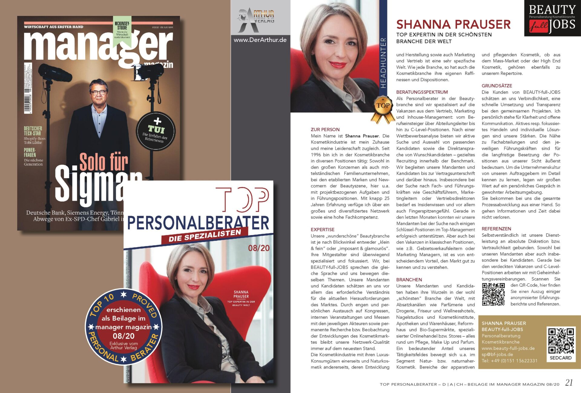 Shanna Prauser ist TOP-Personalberaterin 08/2020 - manager magazin