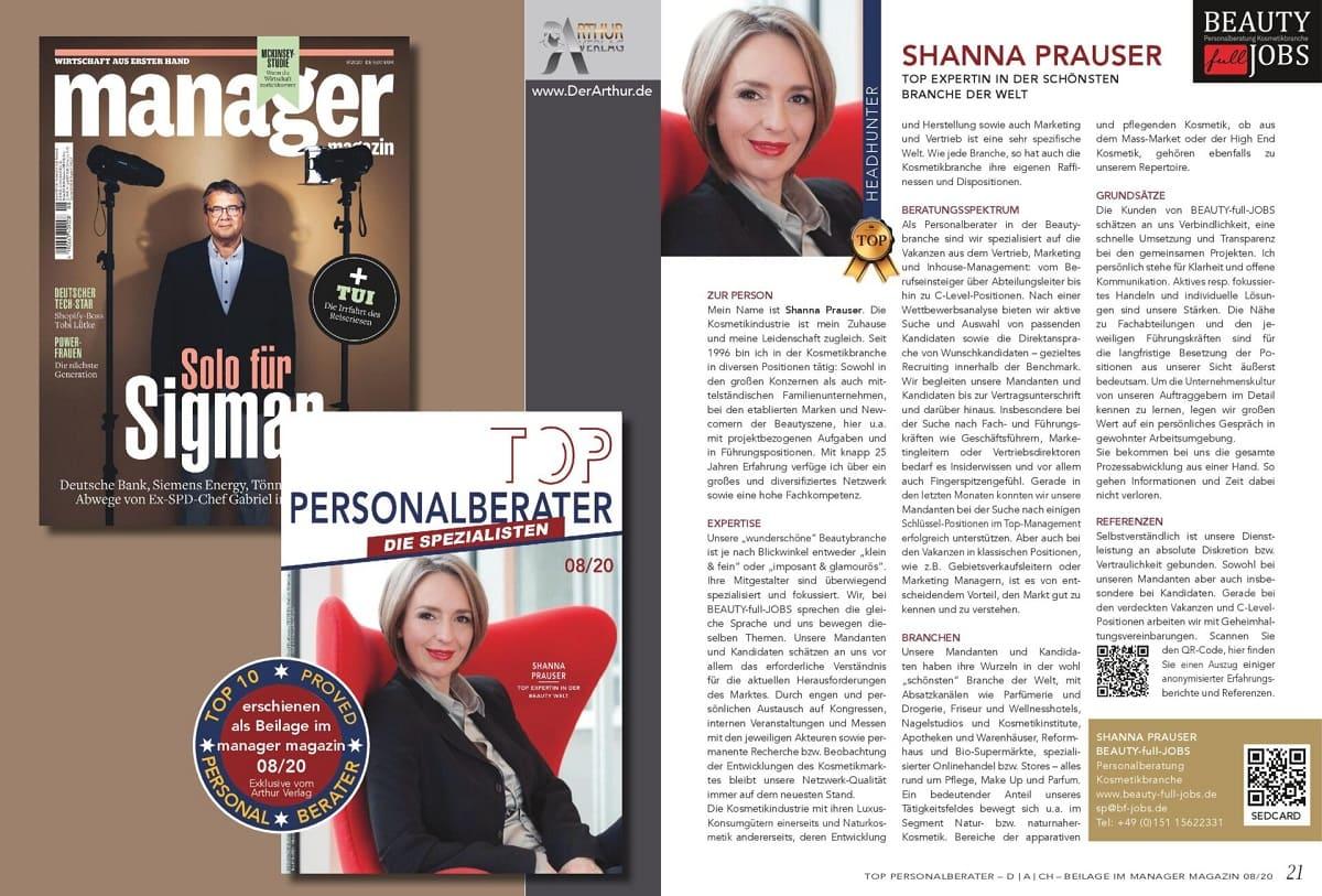 Shanna Prauser TOP-Personalberaterin 2020